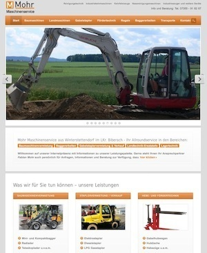 Website Mohr Maschinenservice